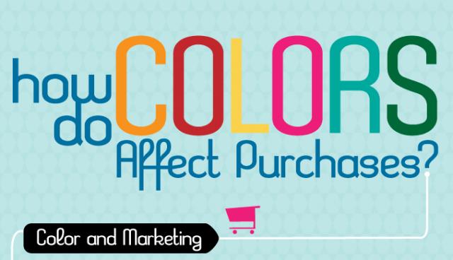 Il marketing dei colori: come influenzano l'acquisto - Infografica
