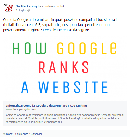 Nuovo algoritmo Facebook: penalizzati link travestiti da immagini e titoli esca