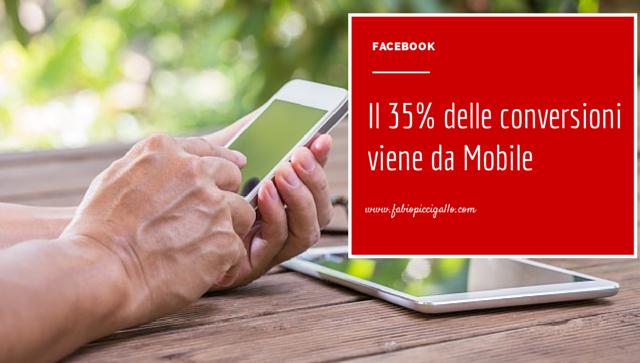 Conversioni da Facebook: il 35% proviene da Mobile