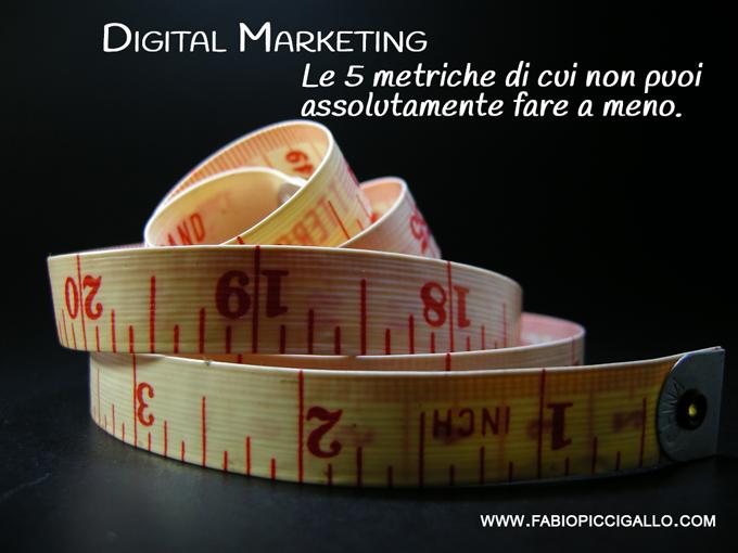 Digital Marketing: le 5 metriche che non puoi non misurare.