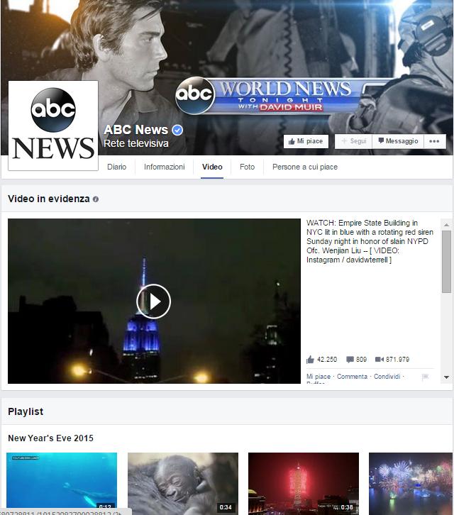 Novità su Facebook: arrivano i video in evidenza
