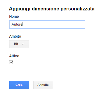 google analytics blog multiautore