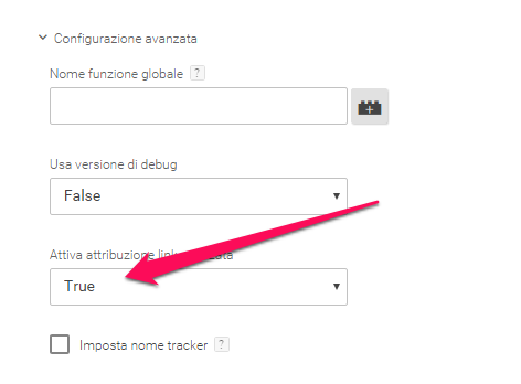 analisi dati inpage google tag manager
