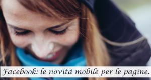 facebook novità mobile pagine