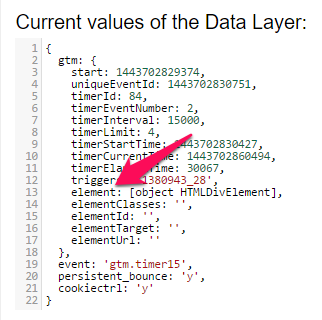google tag manager data layer variable