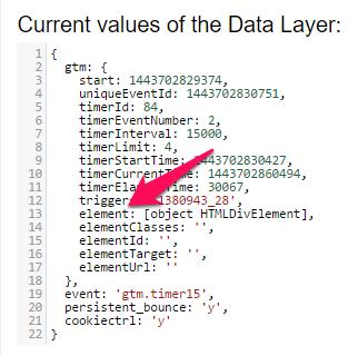 google tag manager data layer variable