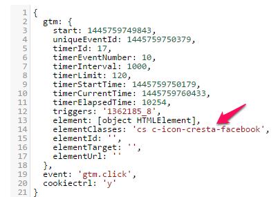 google tag manager click classes