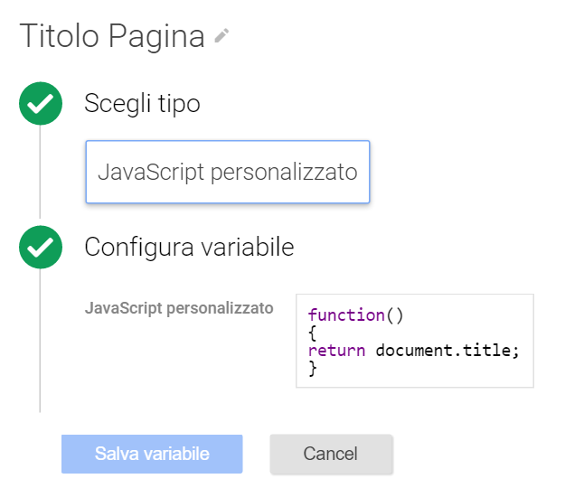 variabile javascript personalizzata