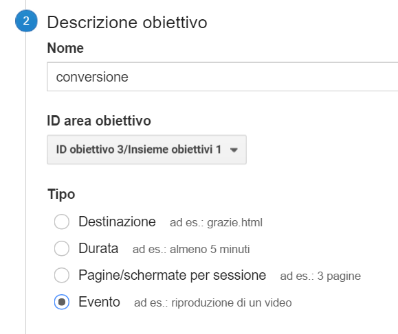 google analytics obiettivi con google tag manager
