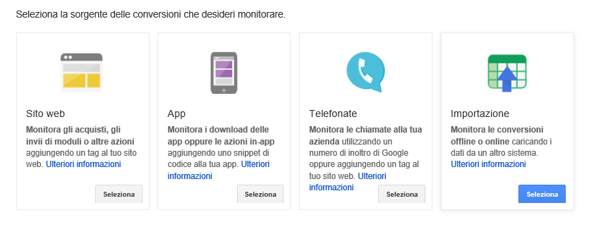 Sorgente conversione adwords GTM